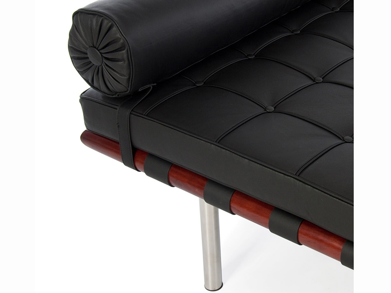Image of the design chair Barcelona day-bed 195 cm - Black