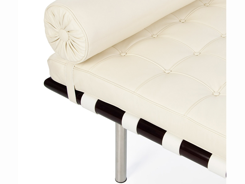 Image of the design chair Barcelona day-bed 195 cm - Cream