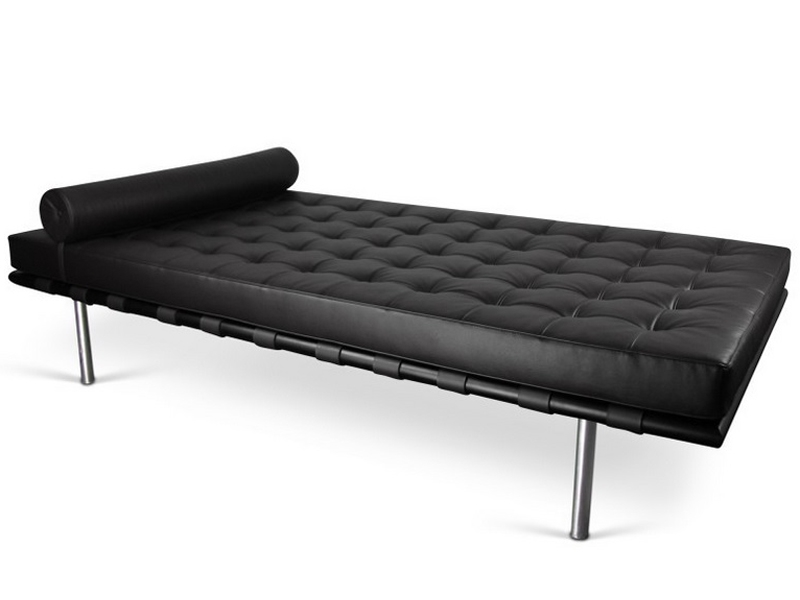 Image of the design chair Barcelona Day bed 198 cm - Black