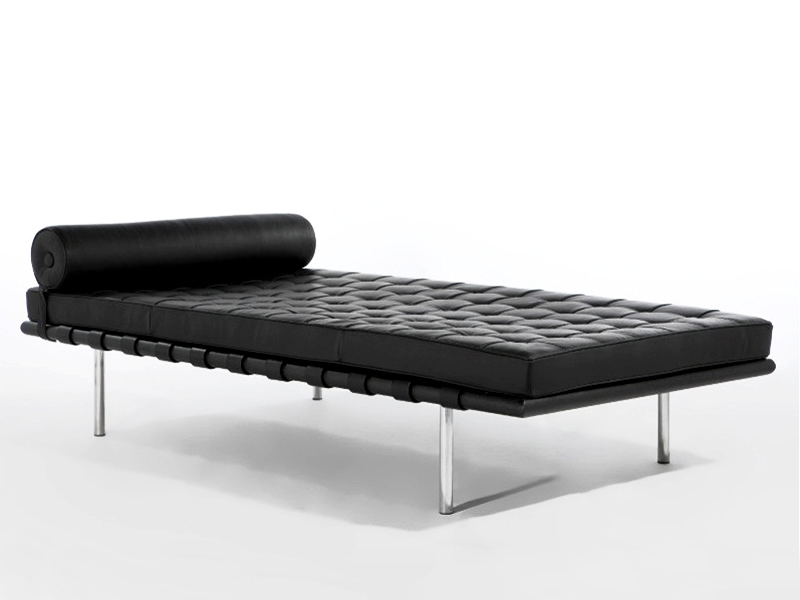 Image of the design chair Barcelona Day bed 200 cm - Black