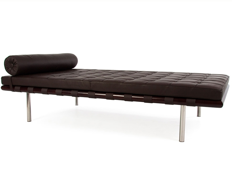 Image of the design chair Barcelona Day bed 200 cm - Dark brown