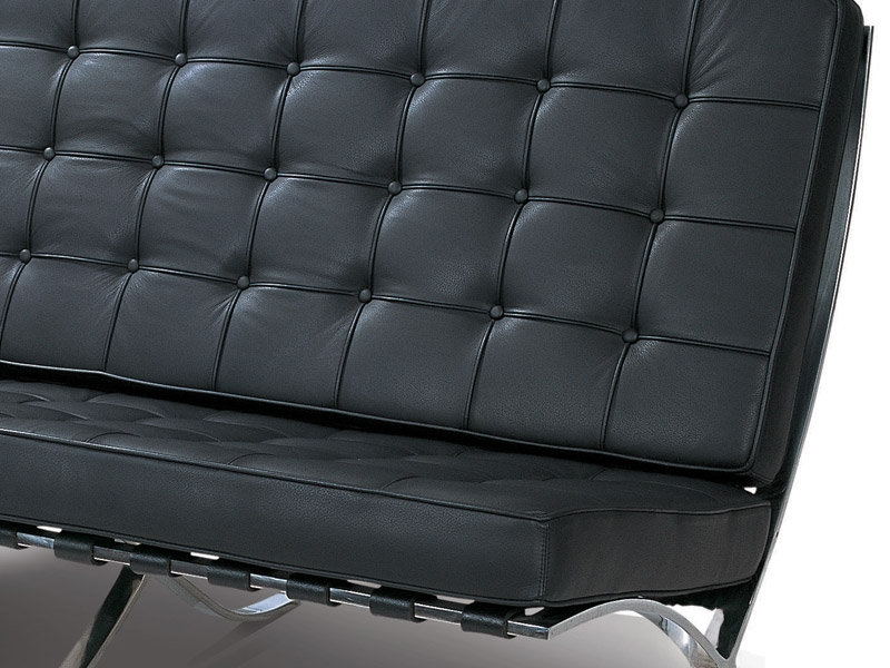Image of the design chair Barcelona sofa 2 seater - Black