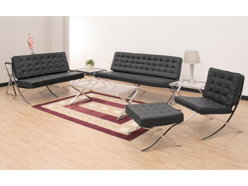 barcelona sofa 2 seater black. Black Bedroom Furniture Sets. Home Design Ideas
