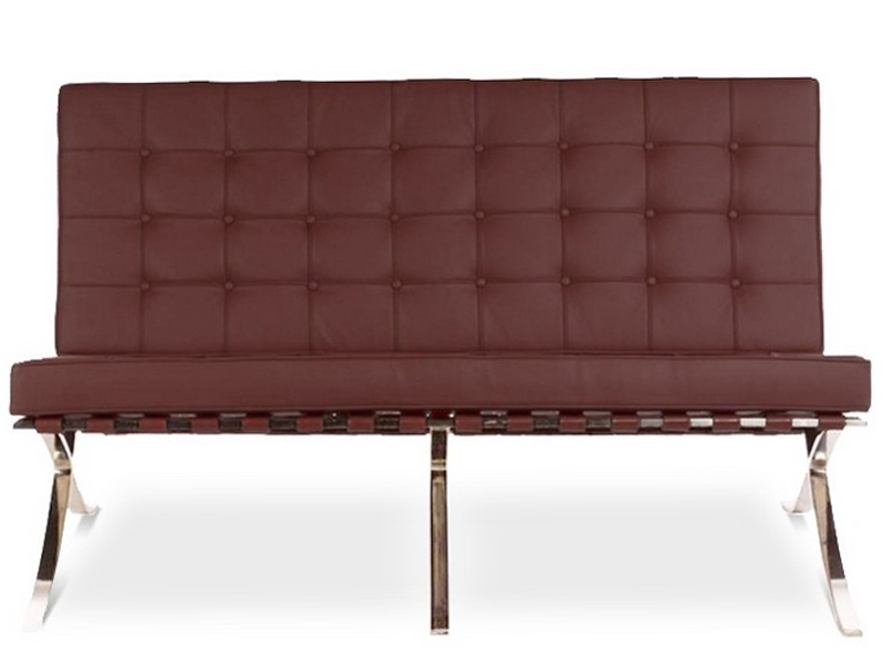 Image of the design chair Barcelona sofa 2 seater - Brown