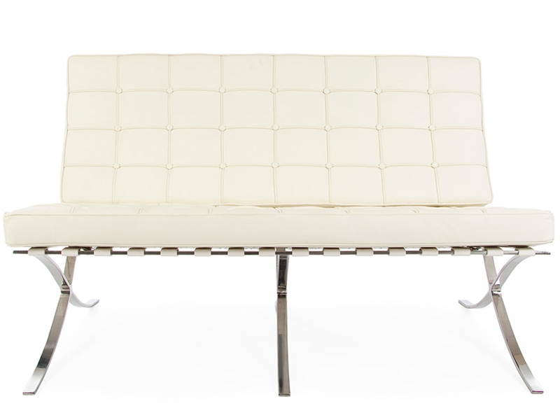 Image of the design chair Barcelona sofa 2 seater - Cream
