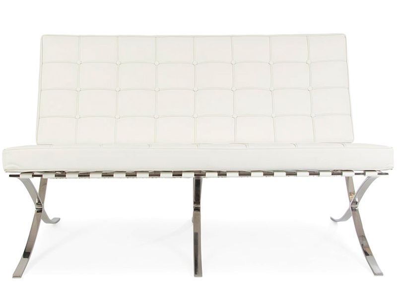 Image of the design chair Barcelona sofa 2 seater - White