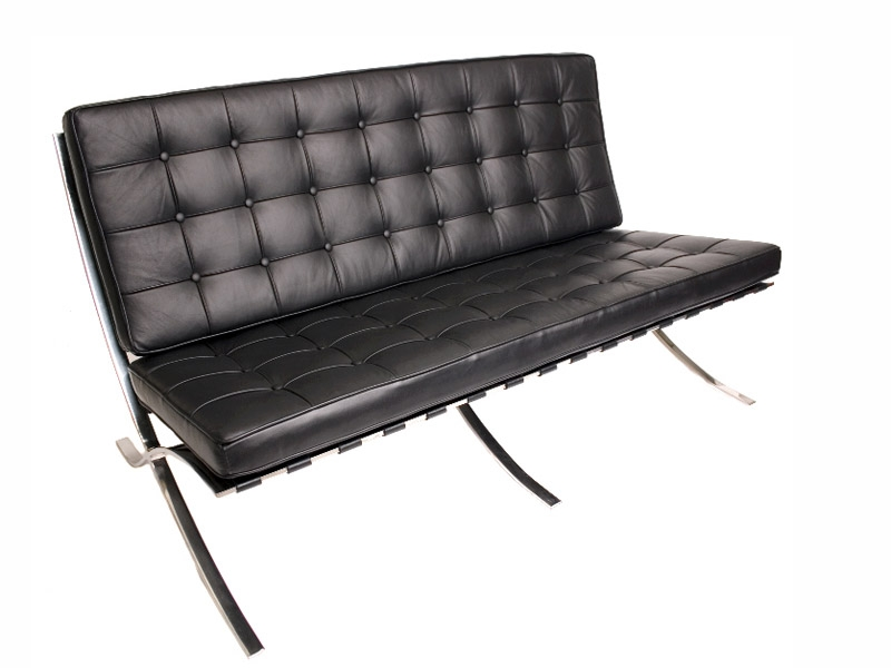Image of the design chair Barcelona sofa 3 seater - Black