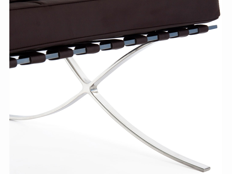 Image of the design chair Barcelona sofa 3 seater - Dark brown