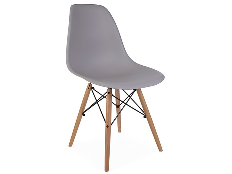 Image of the design chair COSY wooden chair - Mouse grey