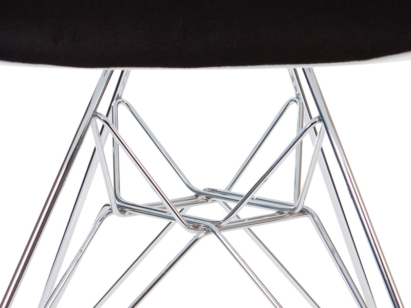 Image of the design chair DAR chair wool padded - Black