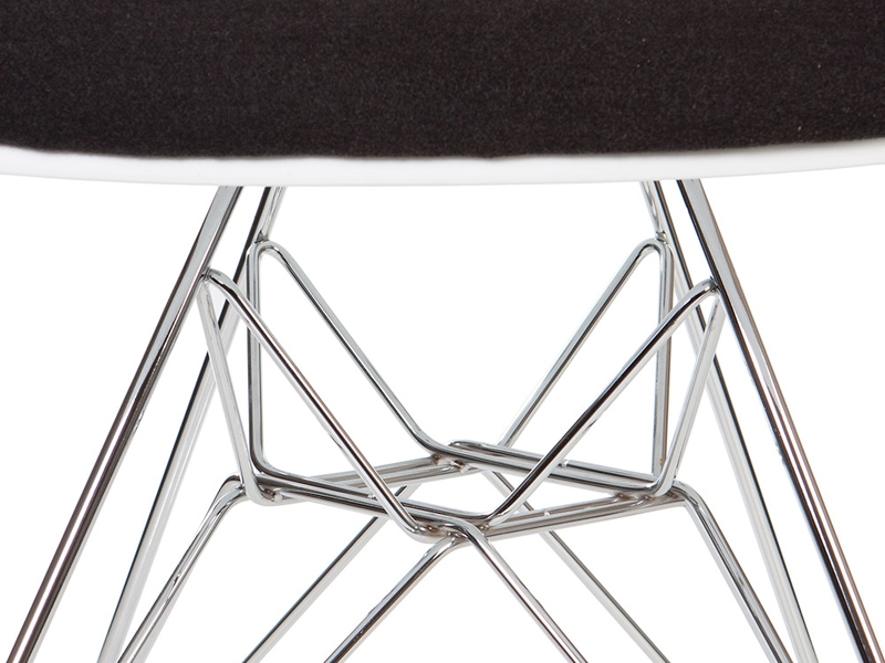 Image of the design chair DAR chair wool padded - Grey