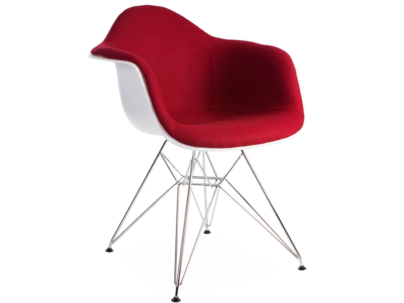Image of the design chair DAR chair wool padded - Red