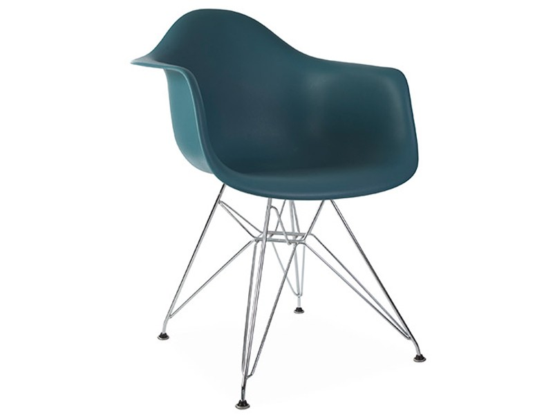 Image of the design chair DAR Eames chair - Blue green