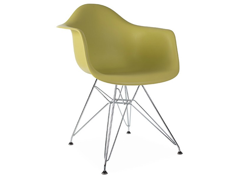 Image of the design chair DAR Eames chair - Green mustard