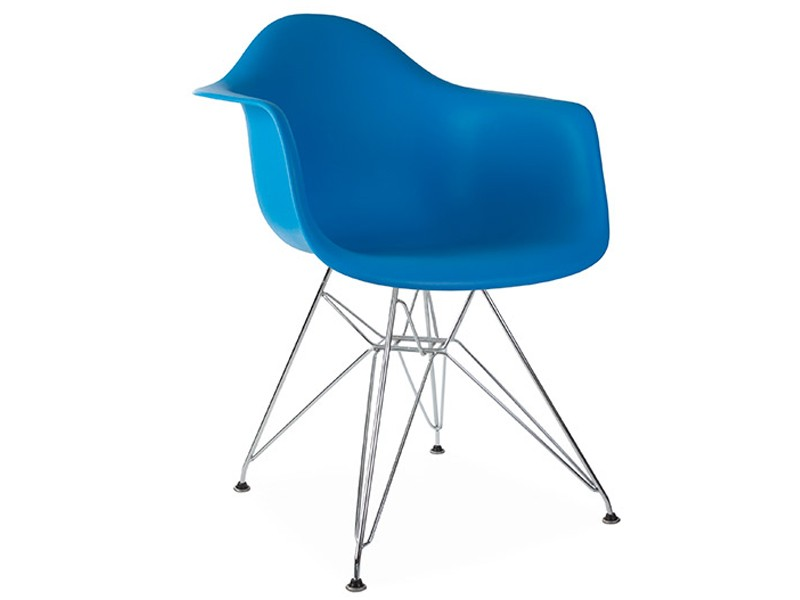 Image of the design chair DAR Eames chair - Ocean blue