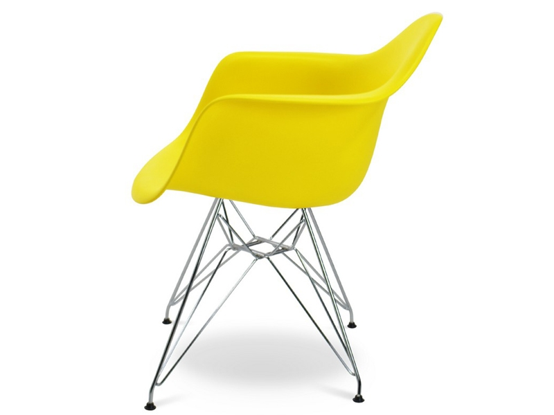 Image of the design chair DAR Eames chair - Yellow lemon