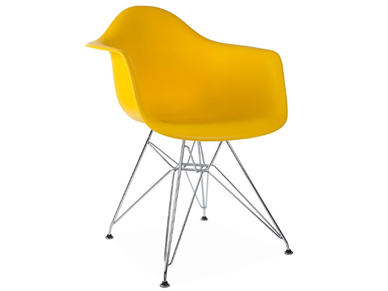 Image of the design chair DAR Eames chair - Yellow mustard