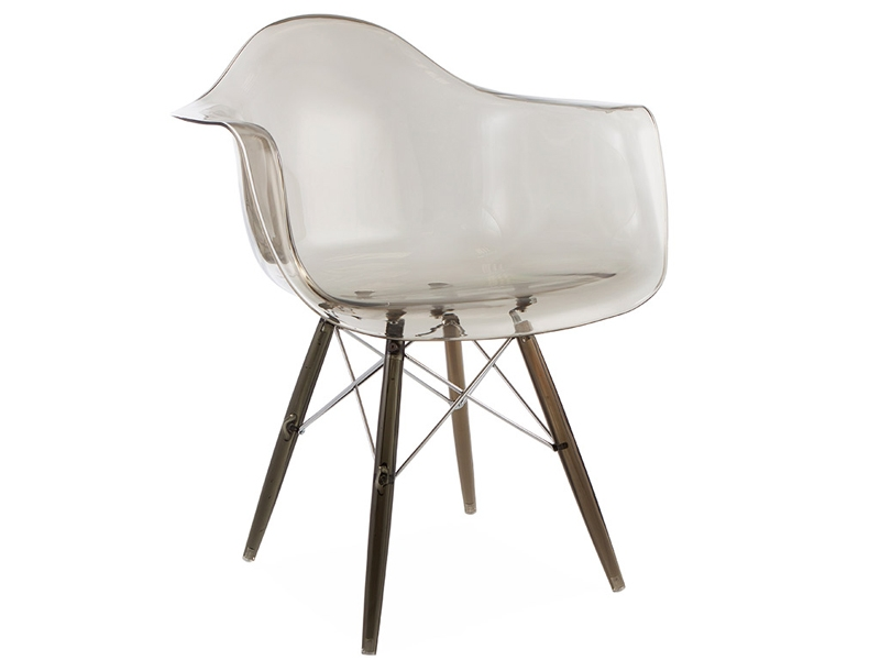 Image of the design chair DAW chair All Ghost - Smoky grey