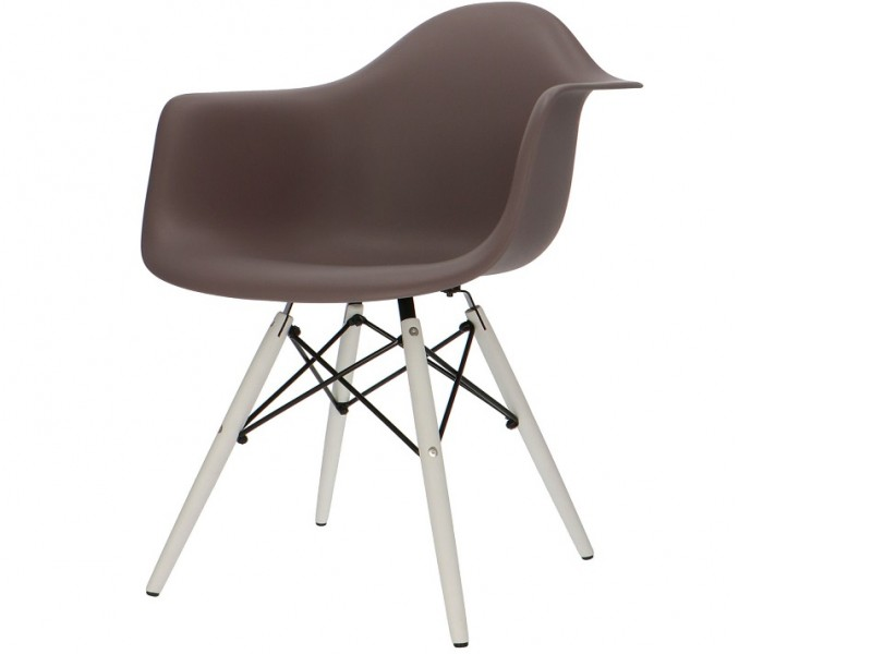 Image of the design chair DAW chair - Dark brown