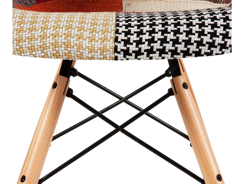 Image of the design chair DAW chair padded - Patchwork