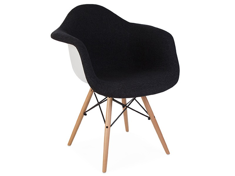 Image of the design chair DAW chair wool padded - Grey
