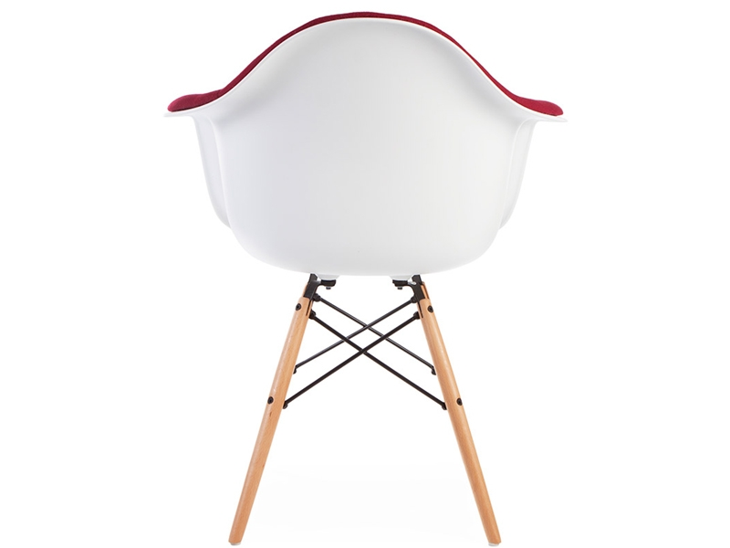 Image of the design chair DAW chair wool padded - Red