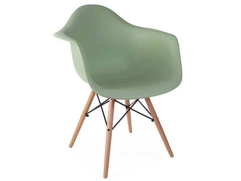 Image of the design chair DAW Eames chair - Almond green