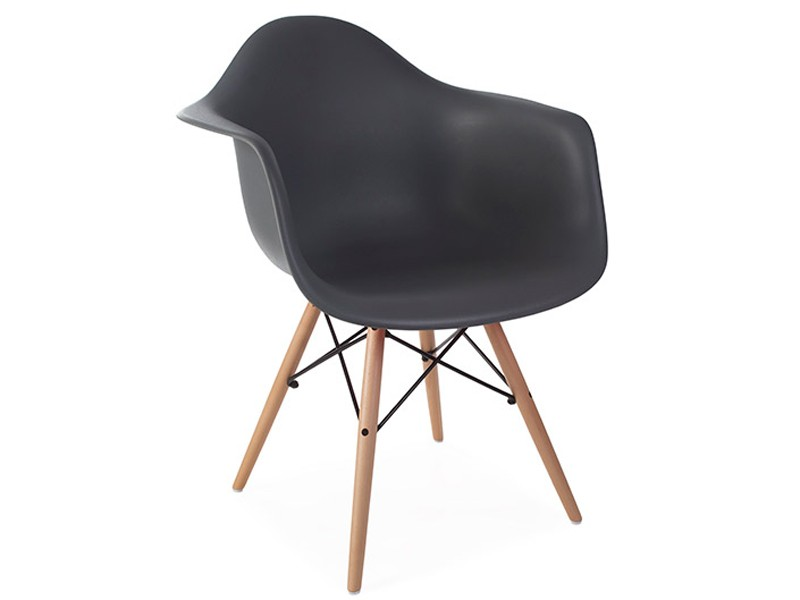 Image of the design chair DAW Eames chair - Anthracite