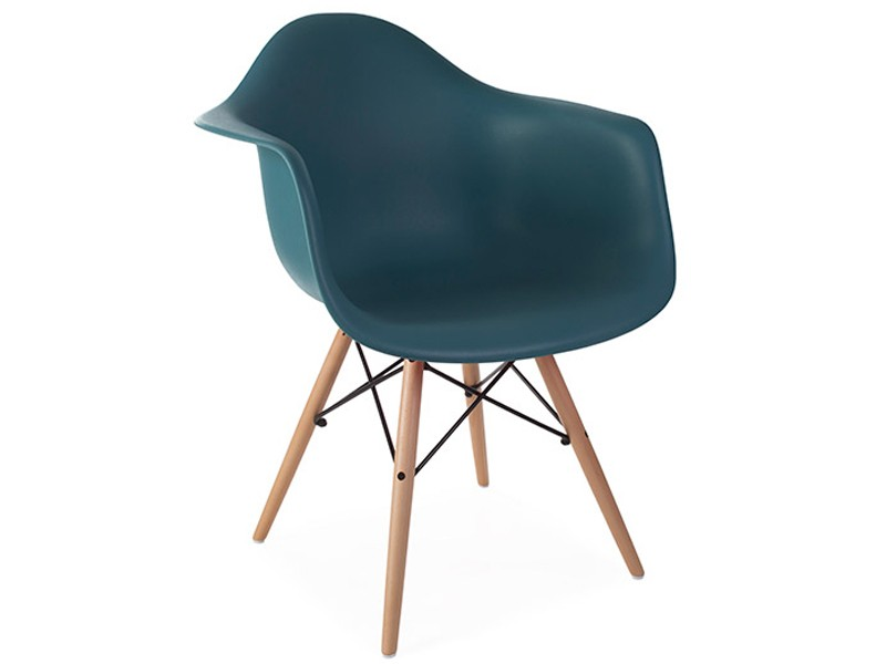 Image of the design chair DAW Eames chair - Blue green