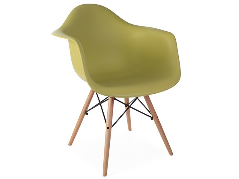Image of the design chair DAW Eames chair - Green mustard
