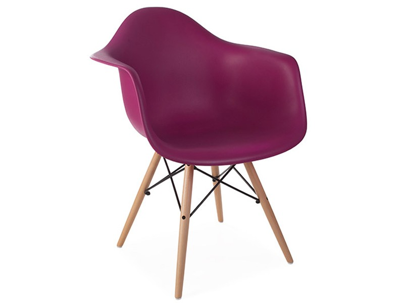 Image of the design chair DAW Eames chair - Purple