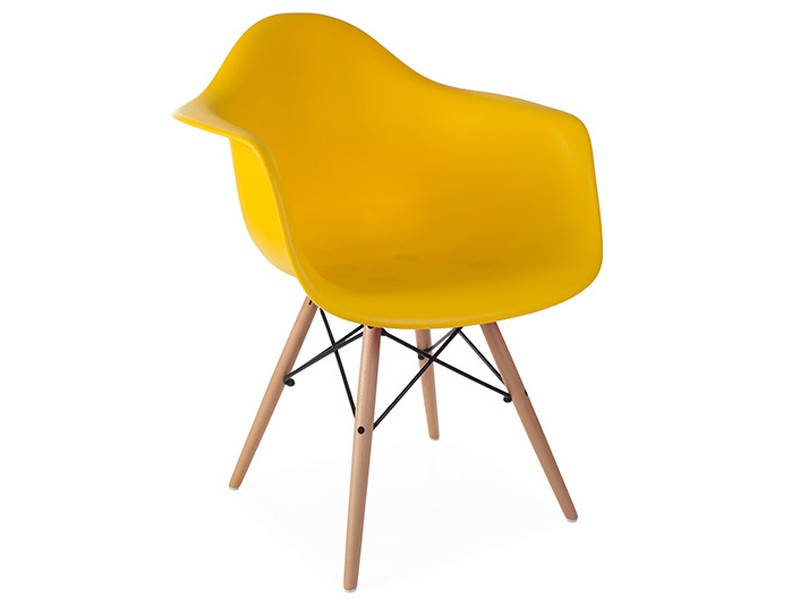 Image of the design chair DAW Eames chair - Yellow mustard