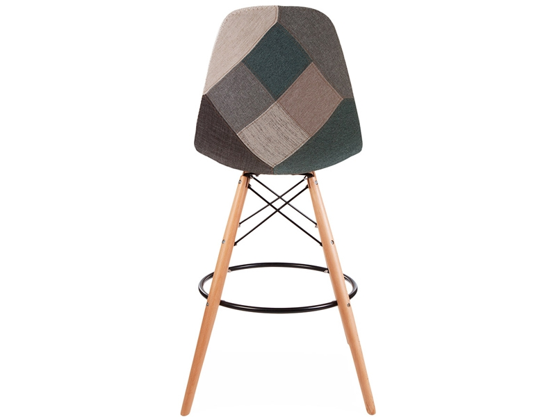 Image of the design chair DSB bar chair - Blue patchwork