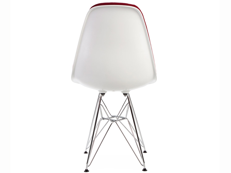 Image of the design chair DSR chair wool padded - Red