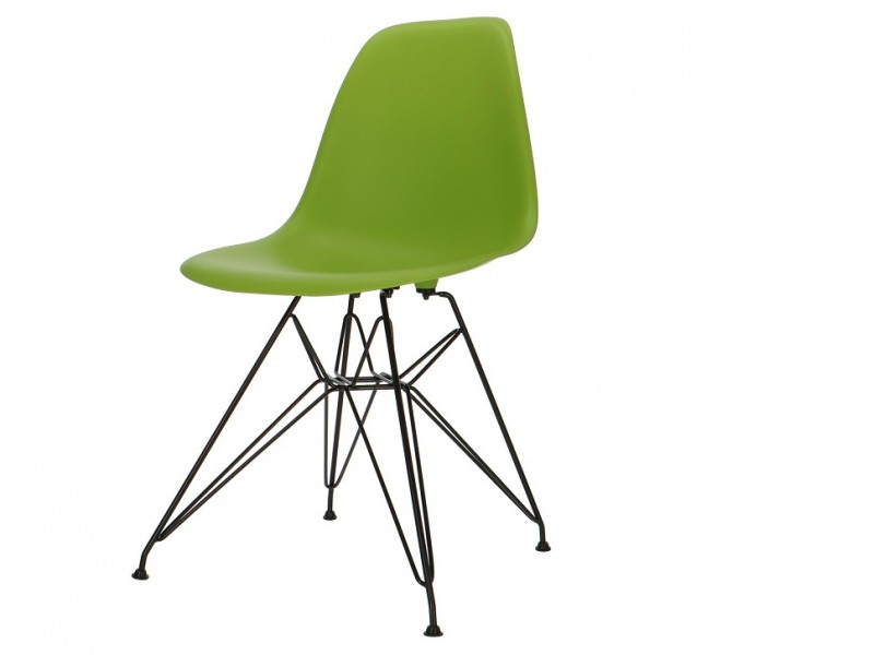 Image of the design chair DSR Eames chair - Apple green