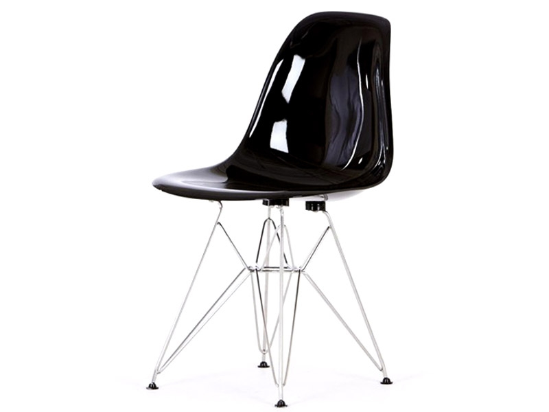 Image of the design chair DSR Eames chair - Black shiny