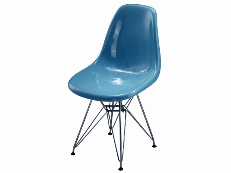 Image of the design chair DSR Eames chair - Blue shiny