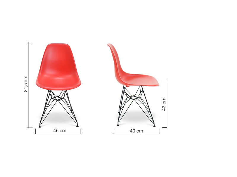 Image of the design chair DSR Eames chair - Bright red