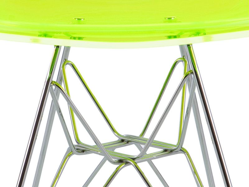Image of the design chair DSR Eames chair - Clear green