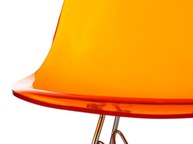Image of the design chair DSR Eames chair - Clear orange