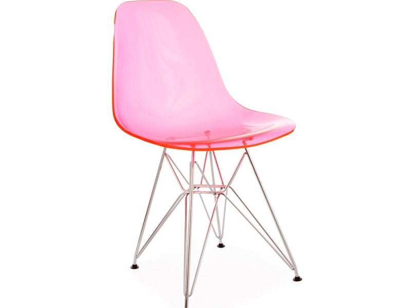 Image of the design chair DSR Eames chair - Clear pink