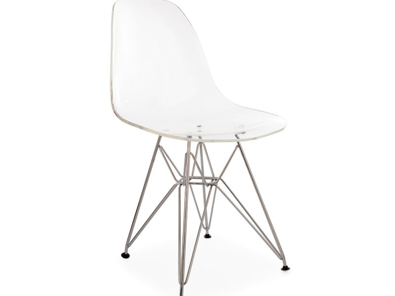 Image of the design chair DSR Eames chair - Clear