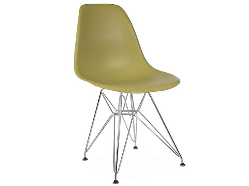 Image of the design chair DSR Eames chair - Green mustard