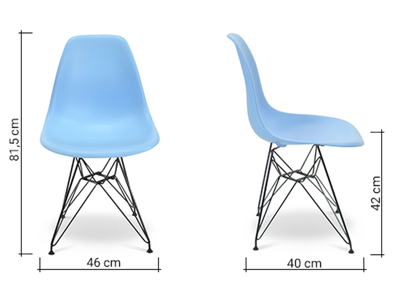 Image of the design chair DSR Eames chair - light blue