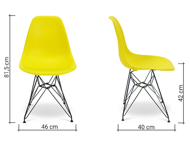 Image of the design chair DSR Eames chair - Yellow lemon