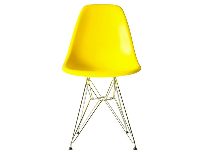 Image of the design chair DSR Eames chair - Yellow shiny