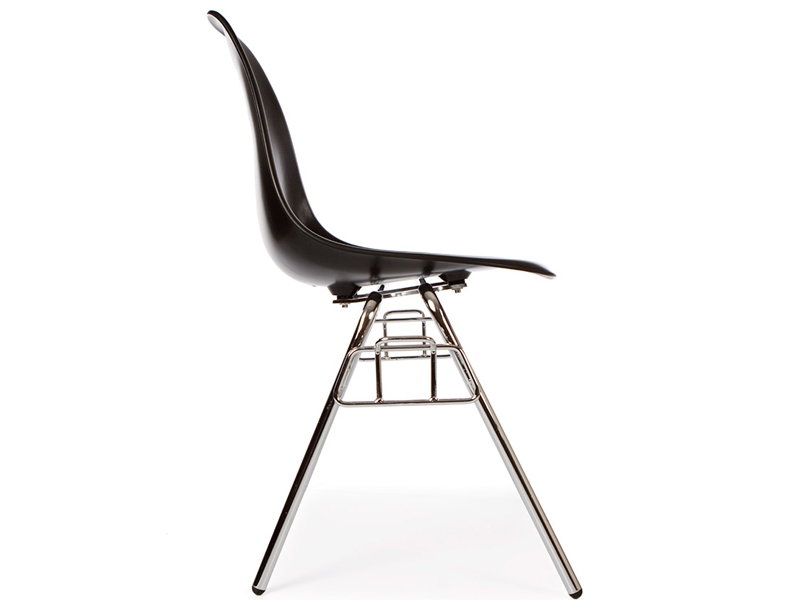 Image of the design chair DSS chair stackable - Black