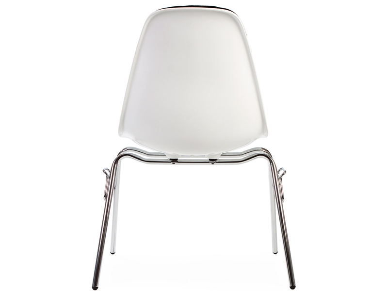 Image of the design chair DSS chair stackable padded - Black