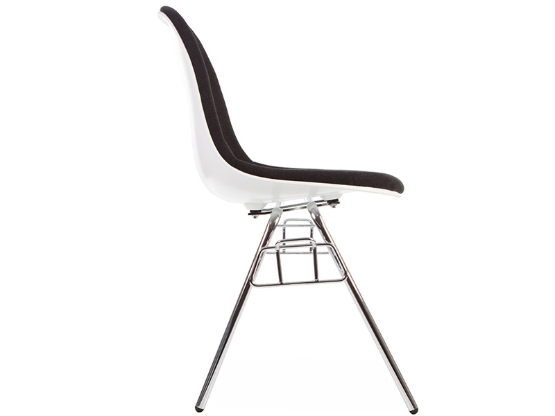 Image of the design chair DSS chair stackable padded - Grey