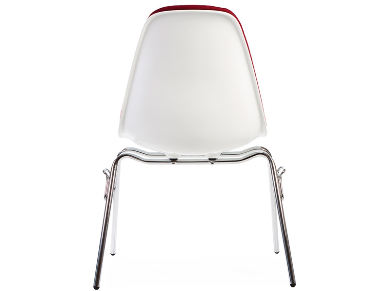 Image of the design chair DSS chair stackable padded - Red